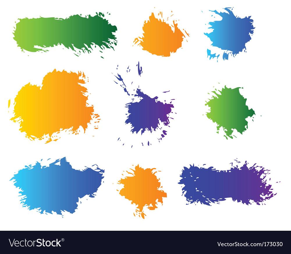 Set of color blots vector image