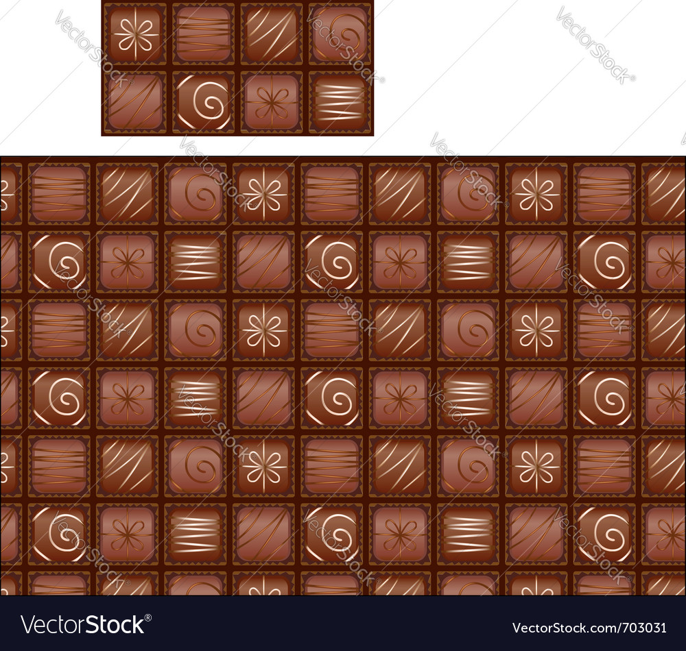 Seamless chocolate pattern vector image