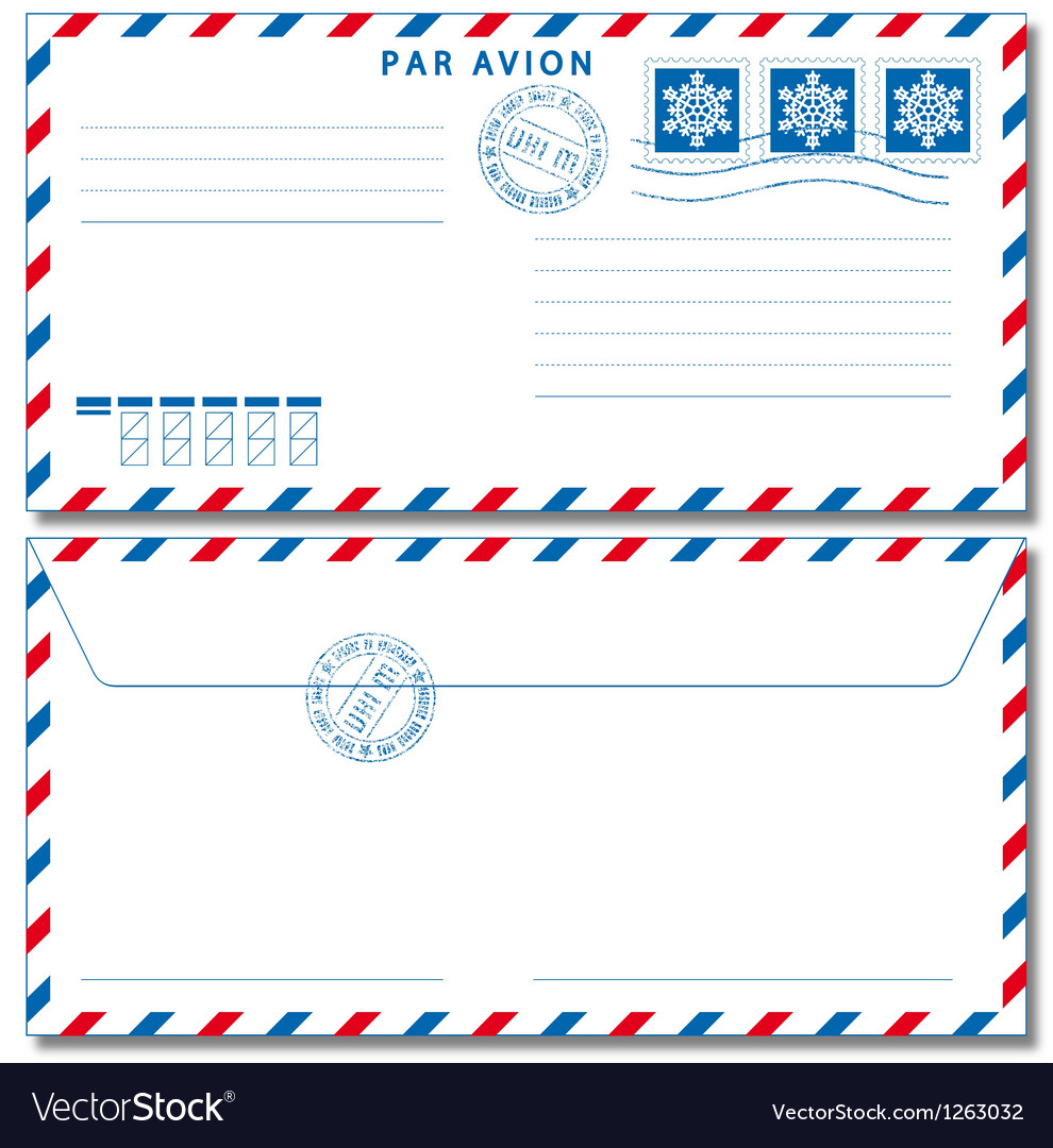 Airmail envelope eps10 Vector Image
