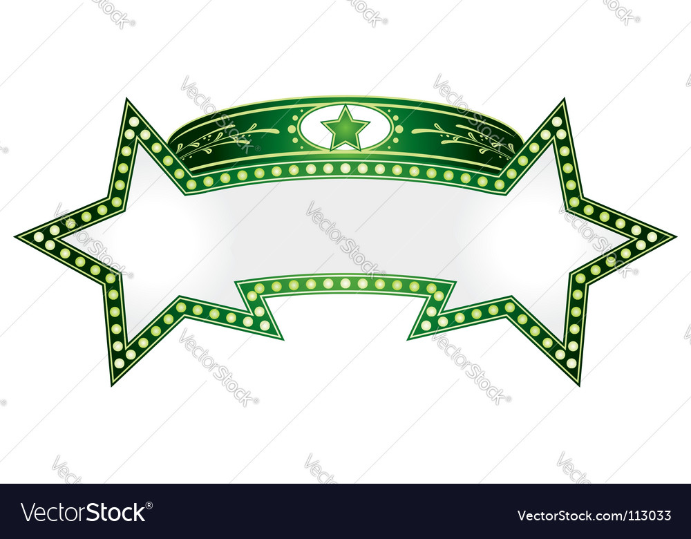 Double star vector image