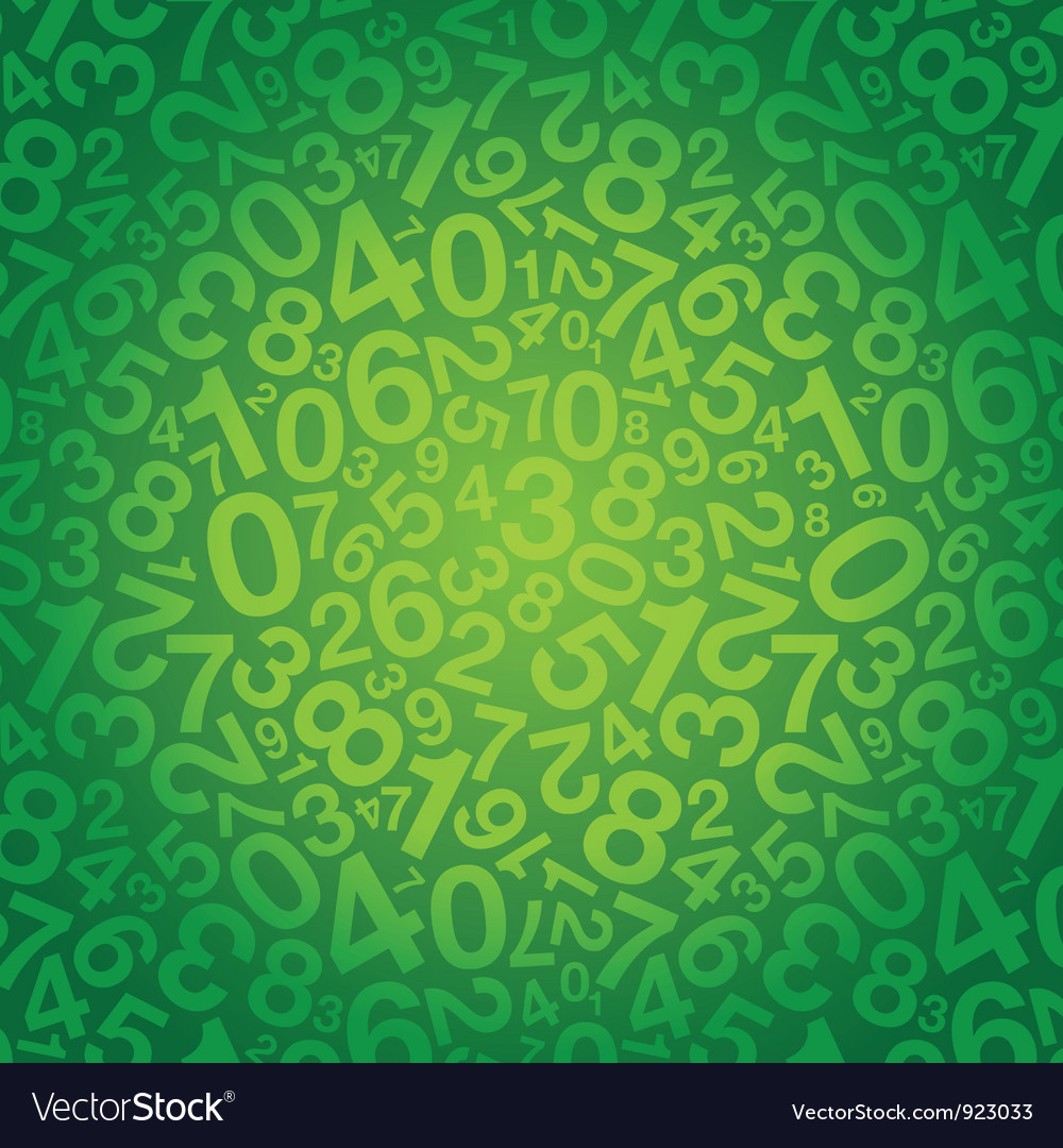 Number background small vector image