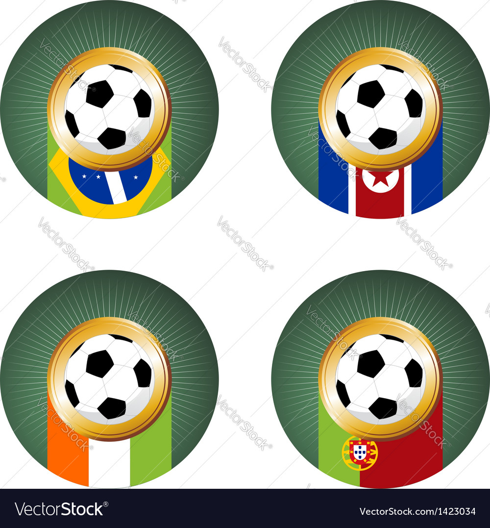 2010 World Cup South Africa Group G vector image