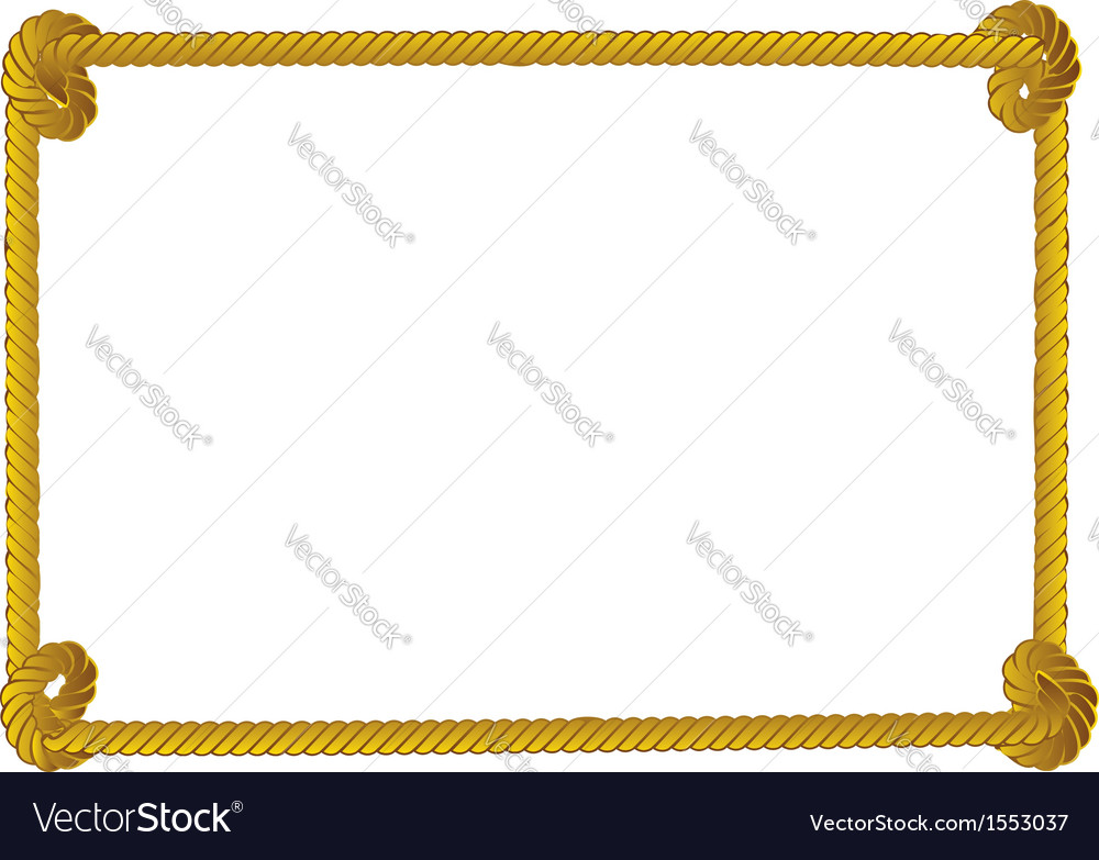 Rope border vector image