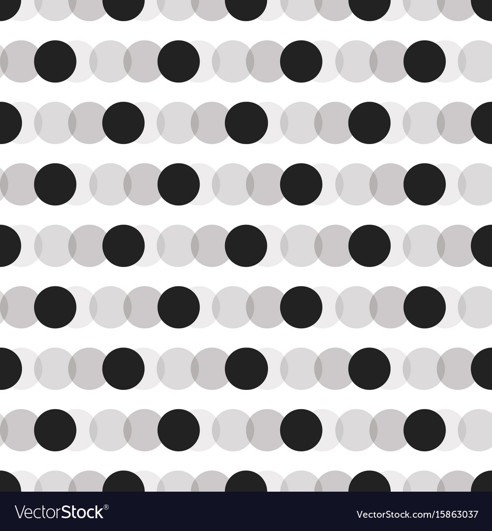 Black faded circles pattern on white background vector image