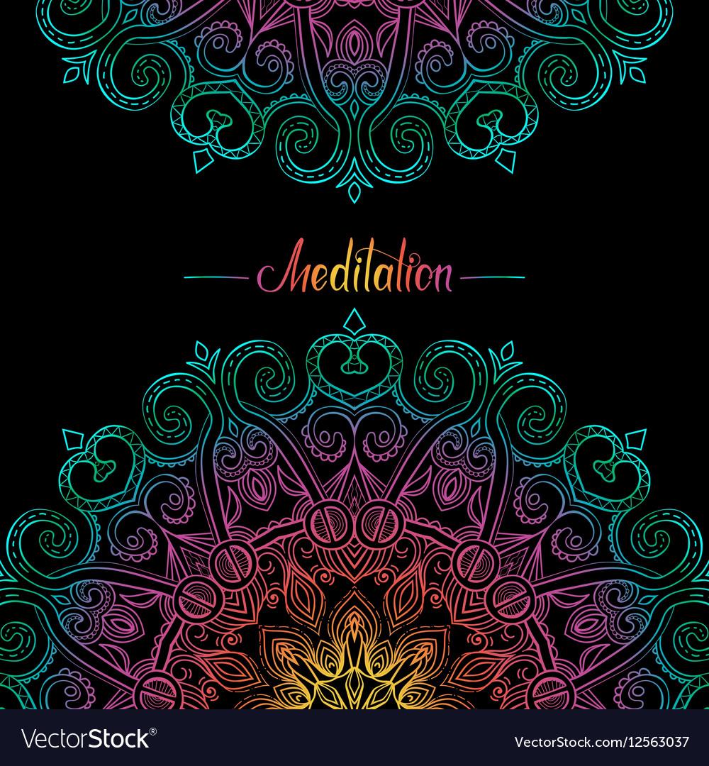 Round Mandala Frame-13 vector image