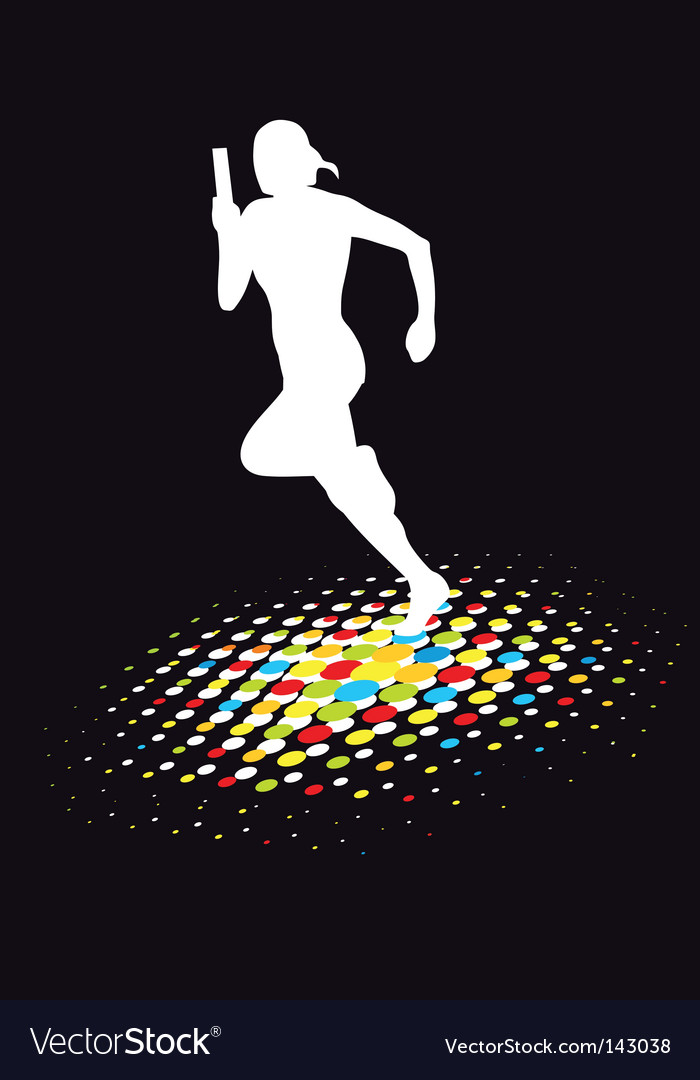 Athletes silhouette vector image