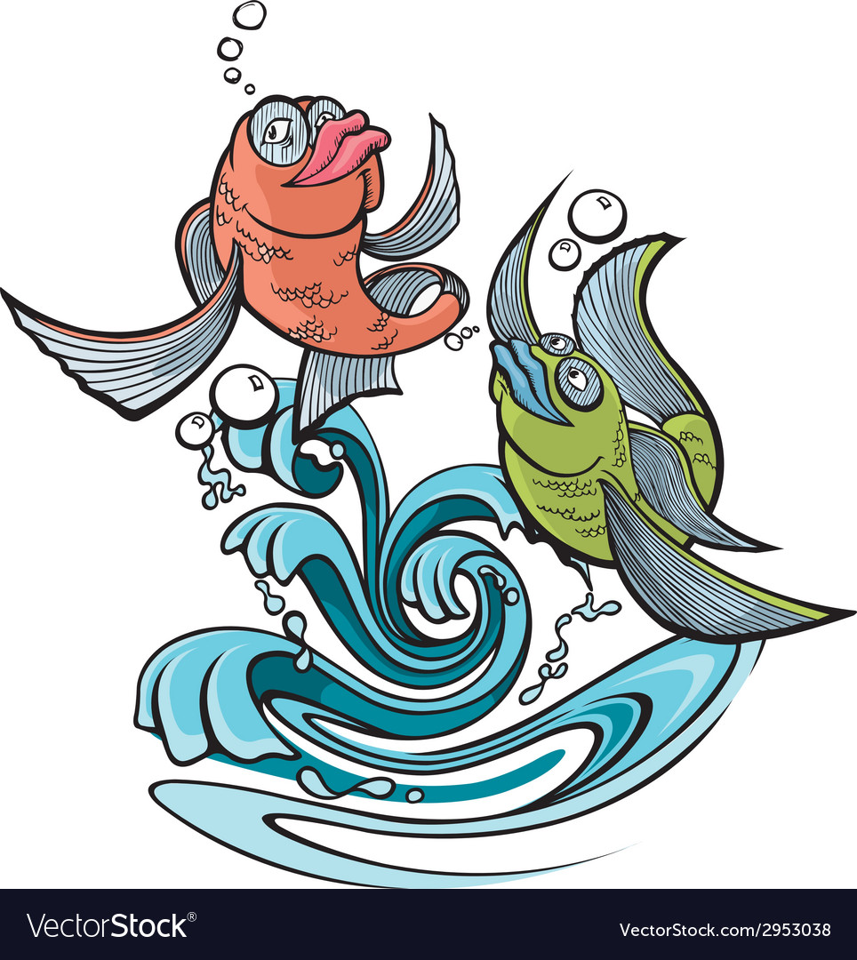 One fish two fish vector image