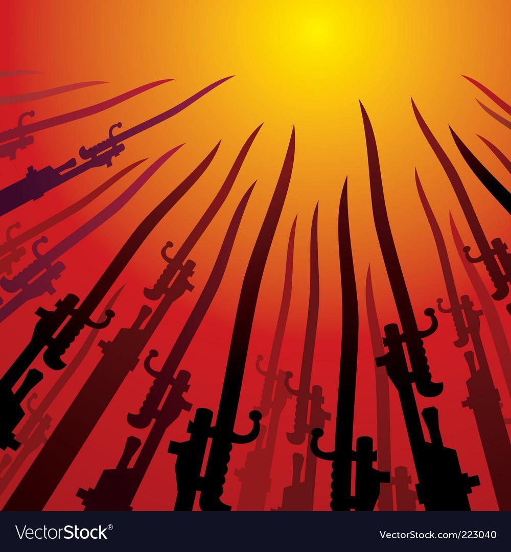Bayonets vector image