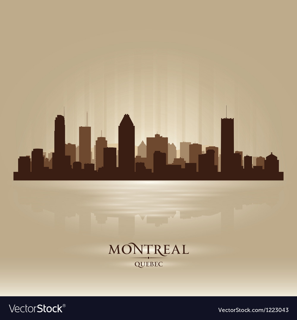 Montreal Quebec skyline city silhouette vector image
