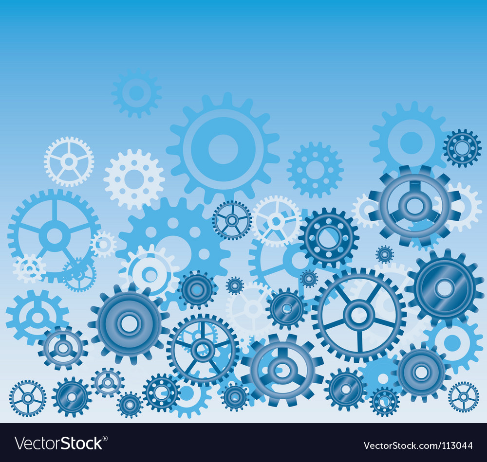 Technical gears background vector image