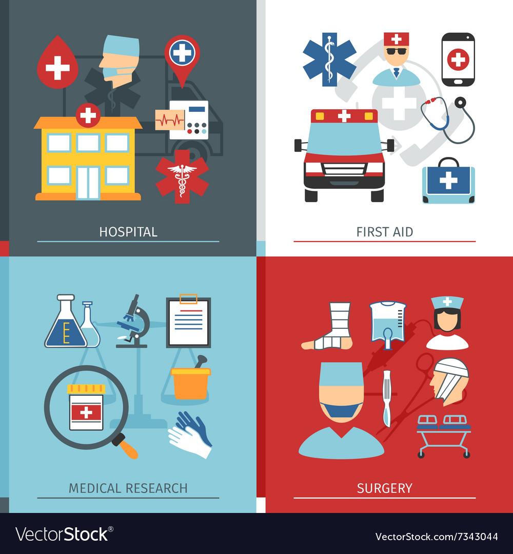 Medical Concept Set vector image