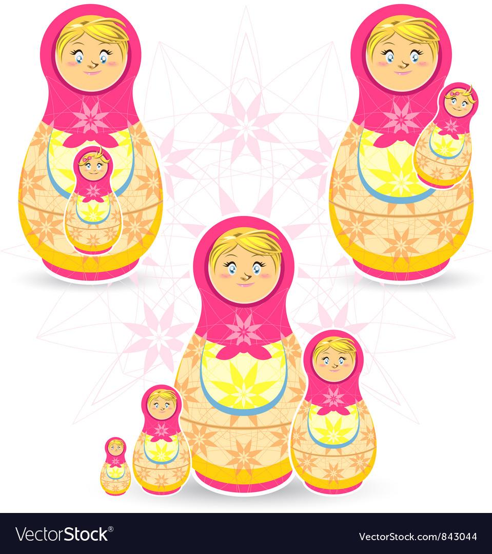 Mothers Day Matryoshka vector image