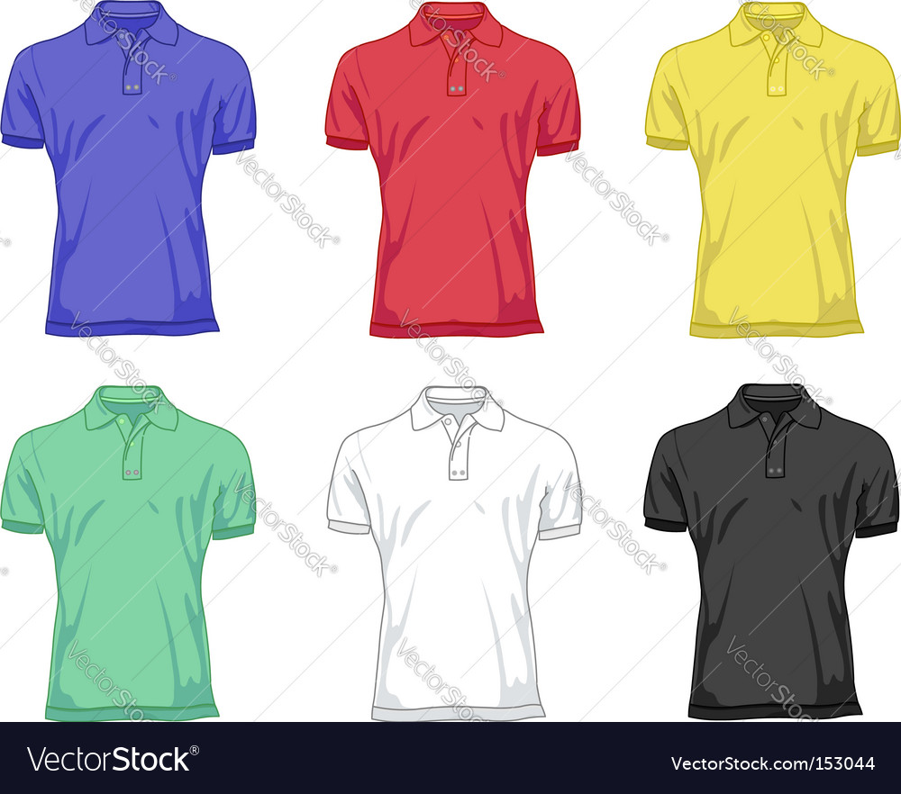 Polo shirts vector image