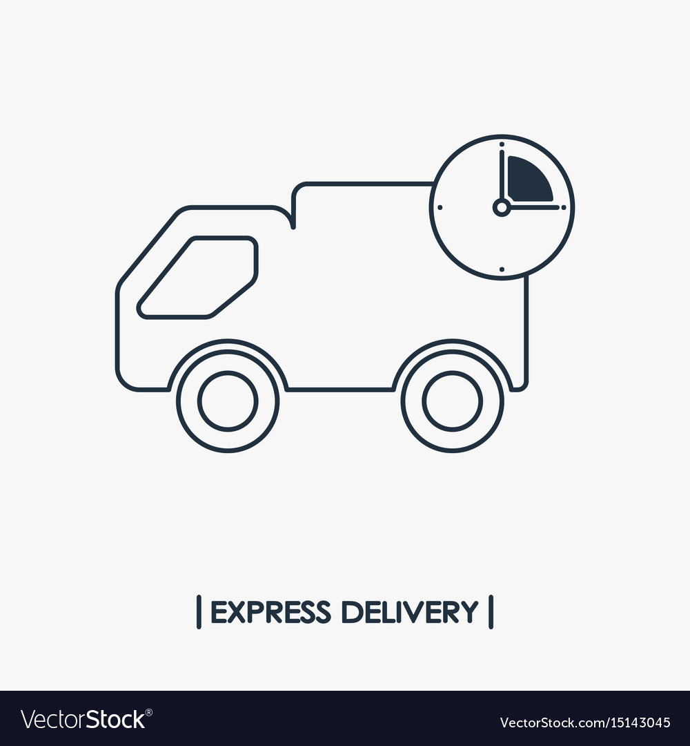 Express delivery outline icon fast shipping vector image