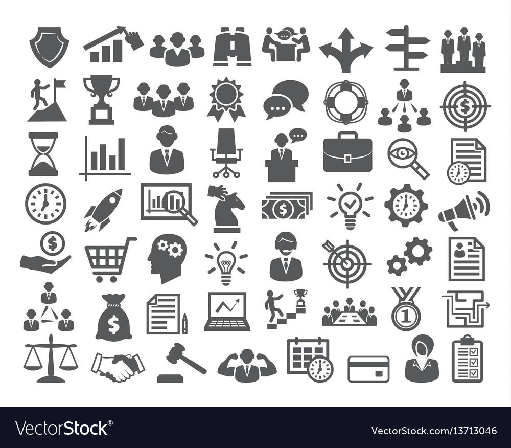 Business icons setmanagement finance marketing vector image