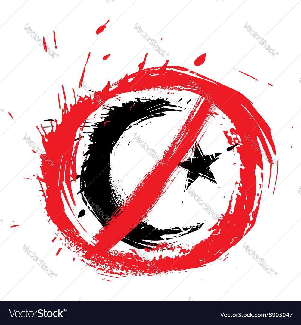 No islam symbol vector image