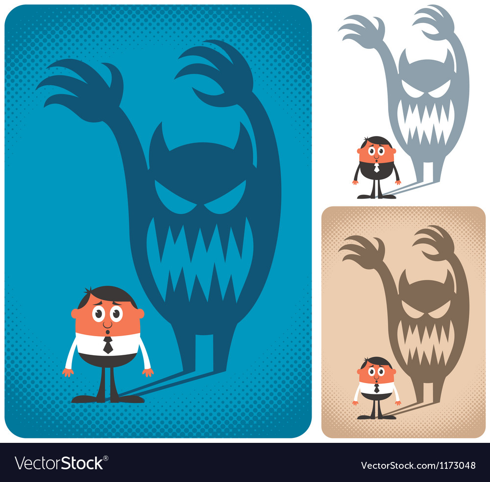 Fear vector image