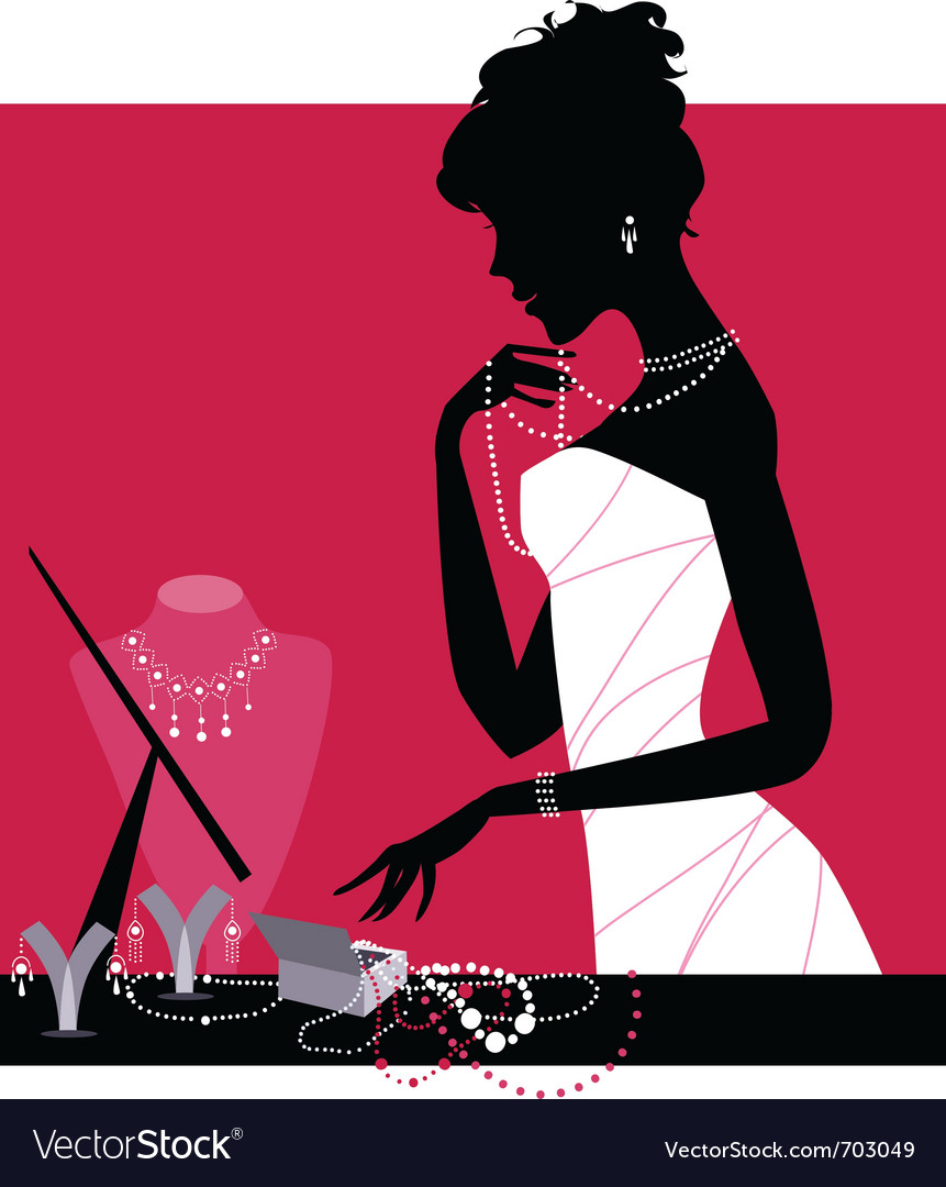 Jewelery shop vector image