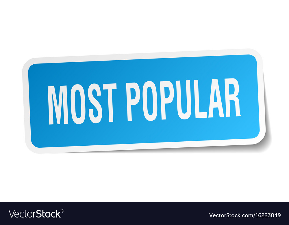Most popular square sticker on white vector image