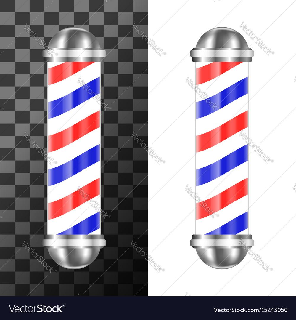 Classic barbershop pole vector image