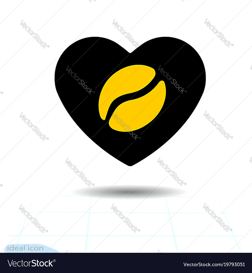 Heart black icon a symbol of love coffee vector image biocorpaavc Images