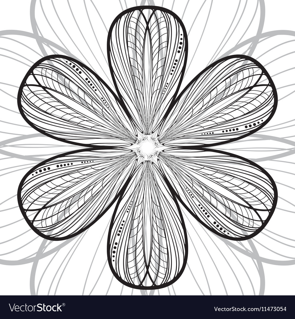 Abstract striped flower background vector image