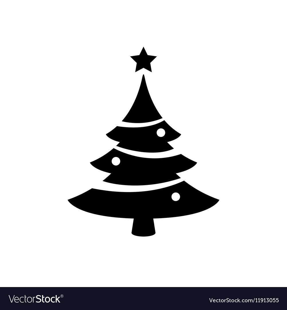 Christmas tree icon vector image