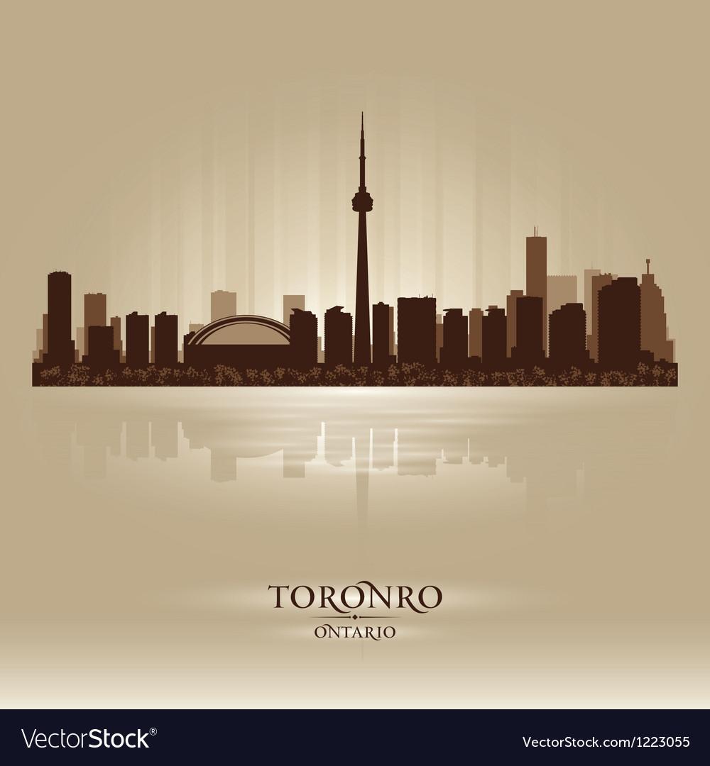 Toronto Ontario skyline city silhouette vector image