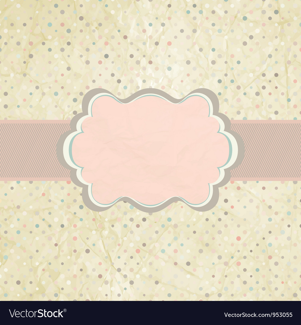 Vintage dot invitation template royalty free vector image vintage dot invitation template vector image stopboris Images