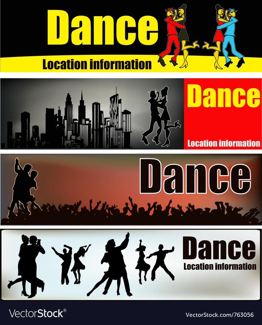 Ballroom dance banners vector image