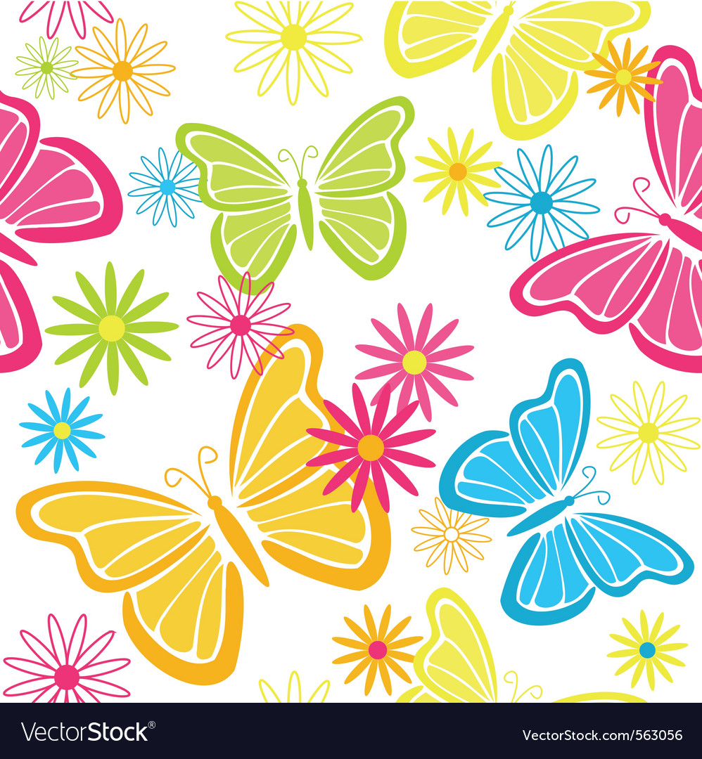 butterfly pattern royalty free vector image vectorstock
