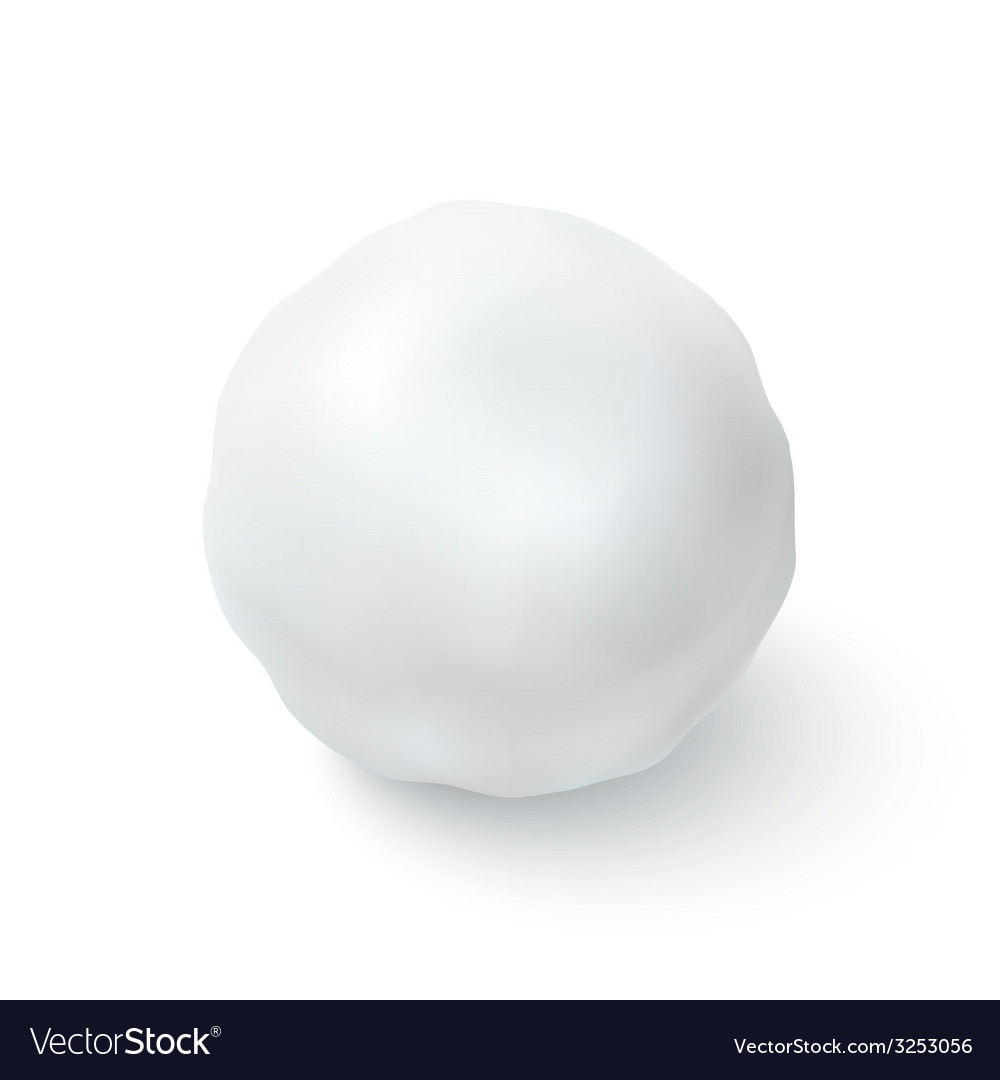 Snowball icon isolated on white background vector image
