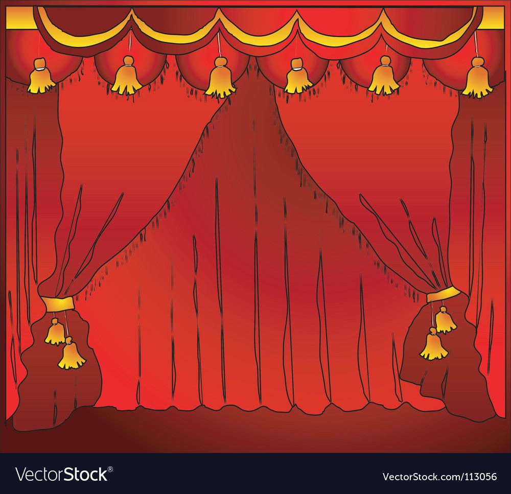 Theatre curtain vector image