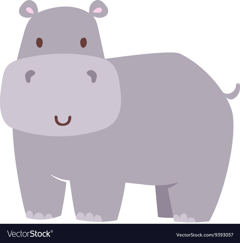 Fun hippo vector image