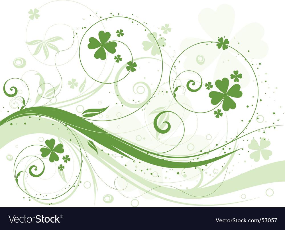 Shamrock background vector image