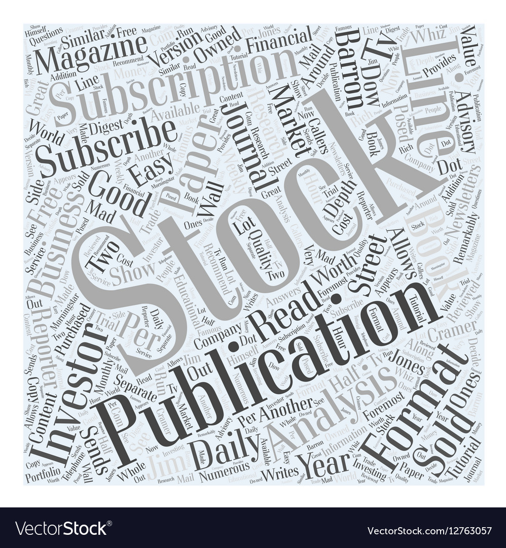 Subscribe to Stock Publication Word Cloud Concept vector image