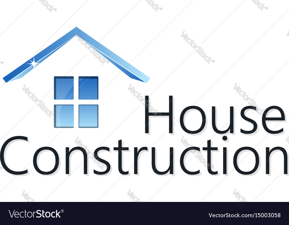Home construction silhouette vector image