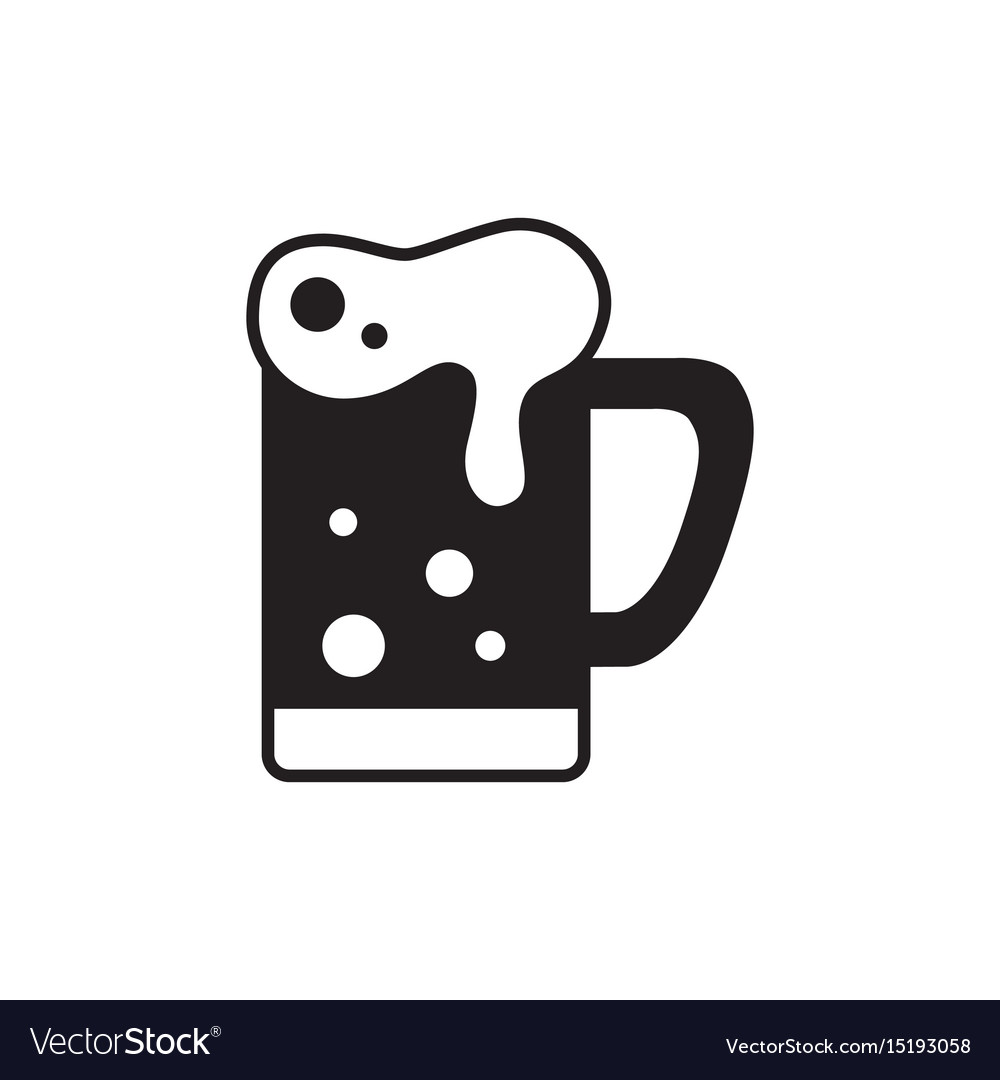 Mug of beer icon thin line for web and mobile vector image