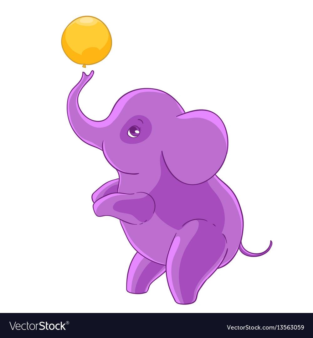 cool purple cartoon elephant standing on hind legs