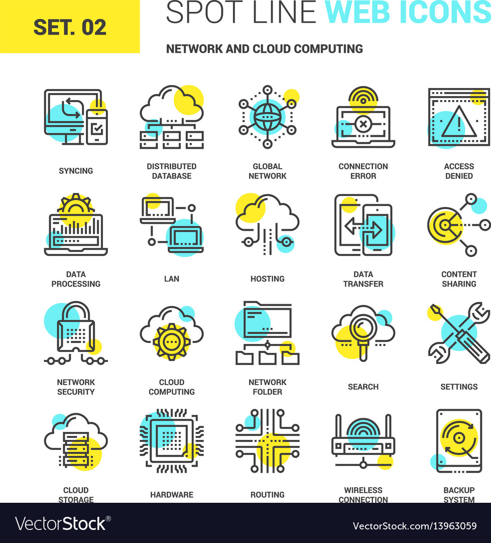 Network and cloud technology vector image