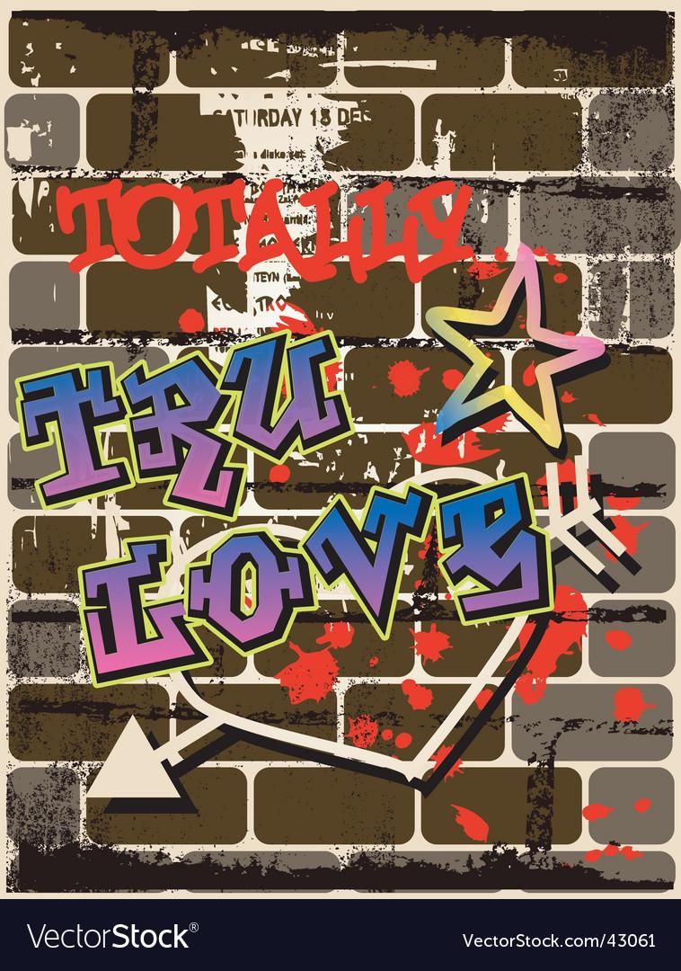 Graffiti wall graphic vector image