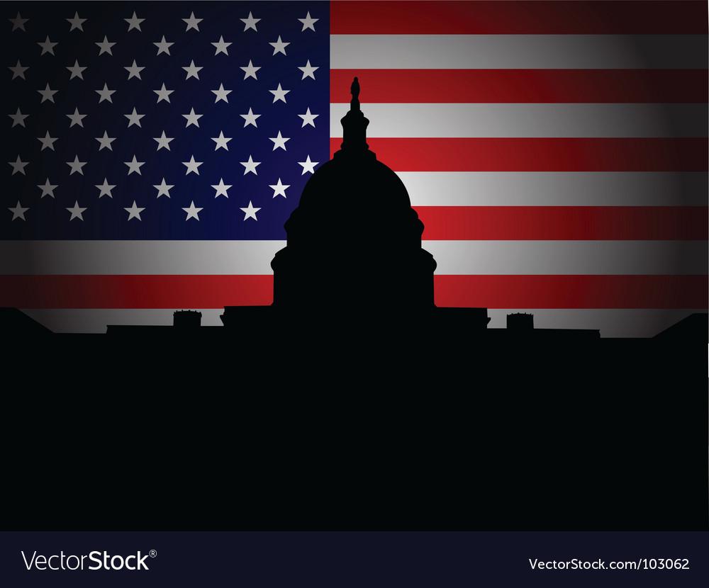 Washington dc vector image