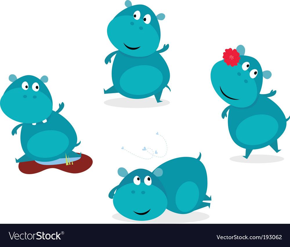 Hippopotamus vector image