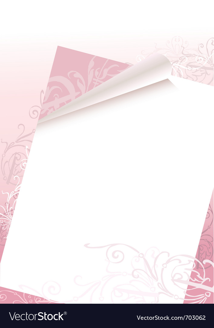Romantic letter vector image