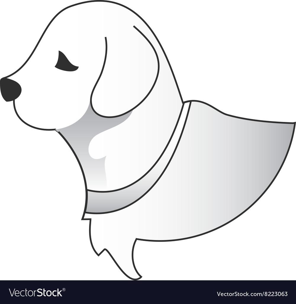 Dog-Head-380x400 vector image