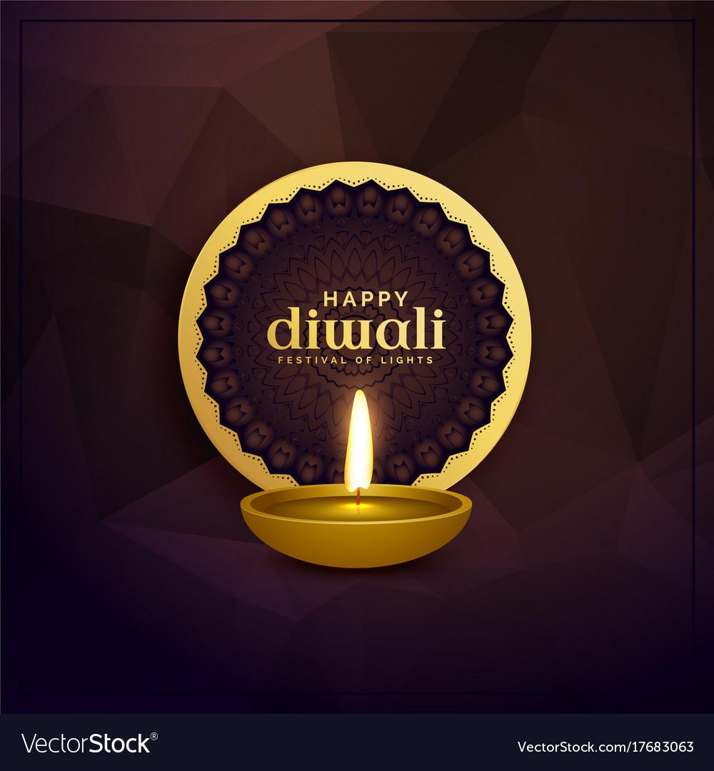 Golden diwali greeting card design with diya lamp vector image golden diwali greeting card design with diya lamp vector image kristyandbryce Choice Image