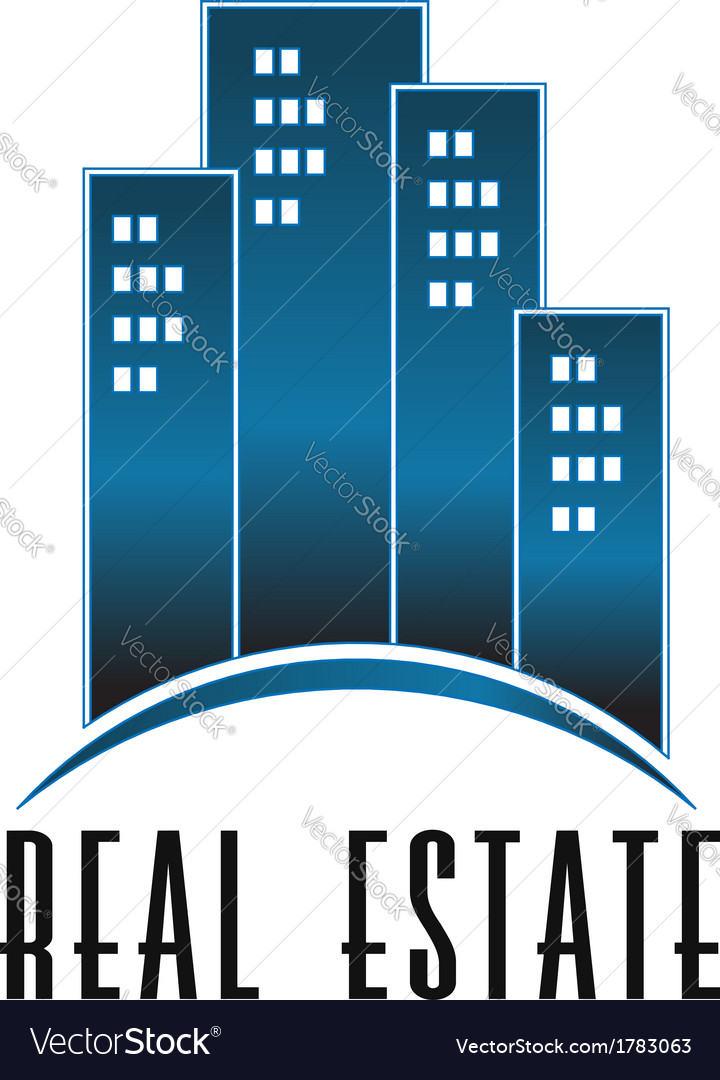 Real Estate group of towers logo vector image