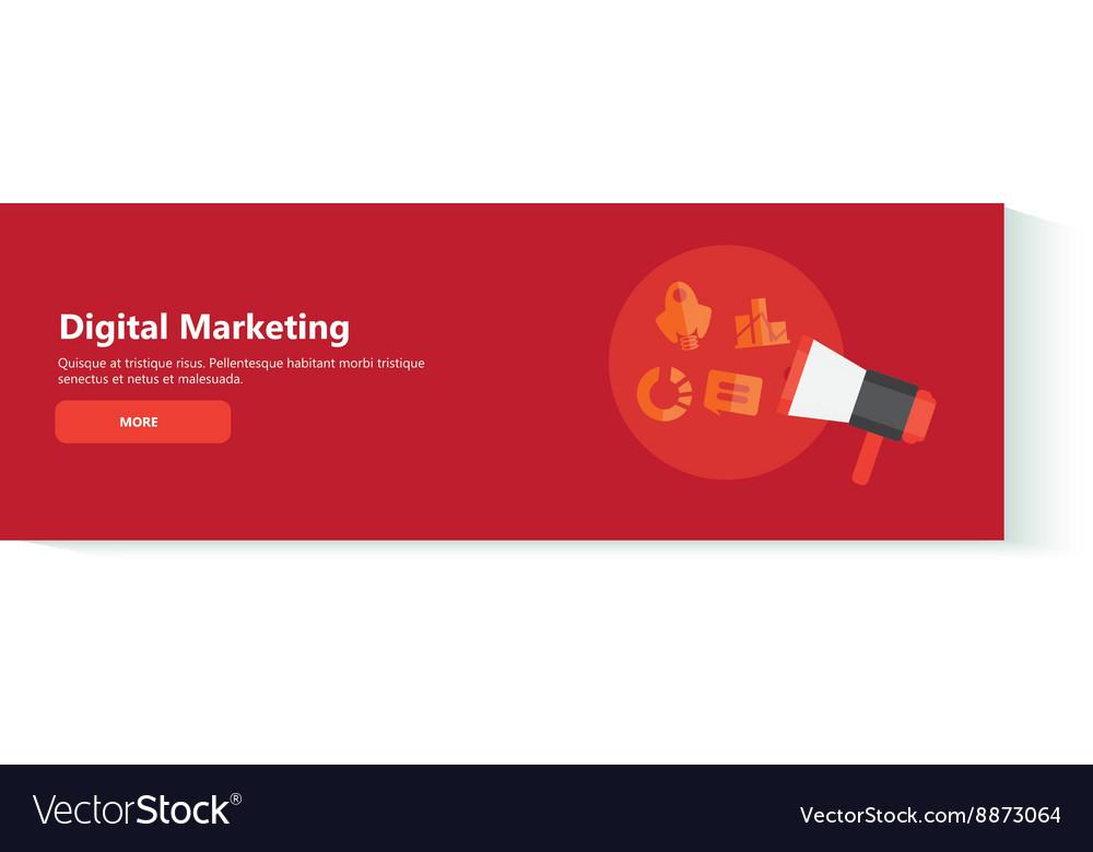 Banner digital marketing vector image