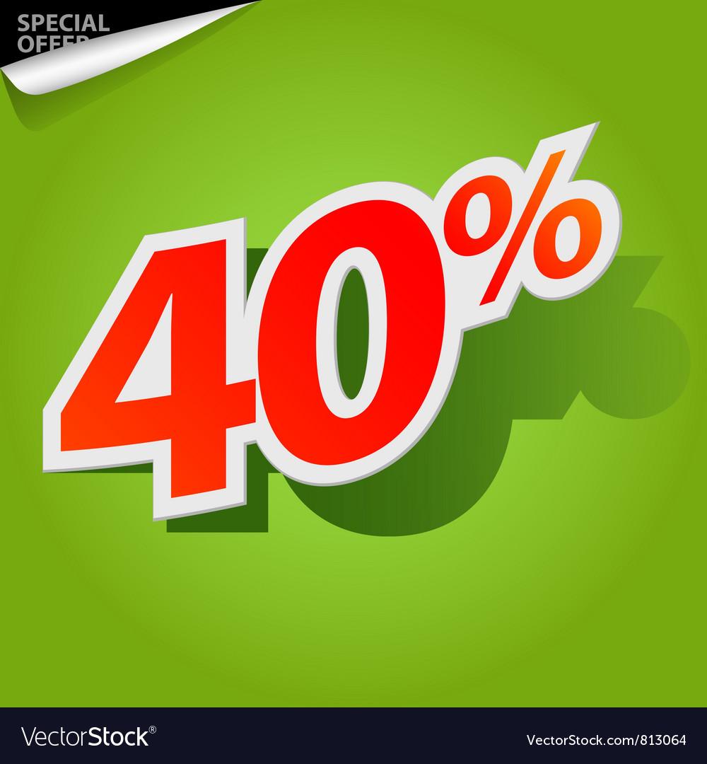 Label percent vector image