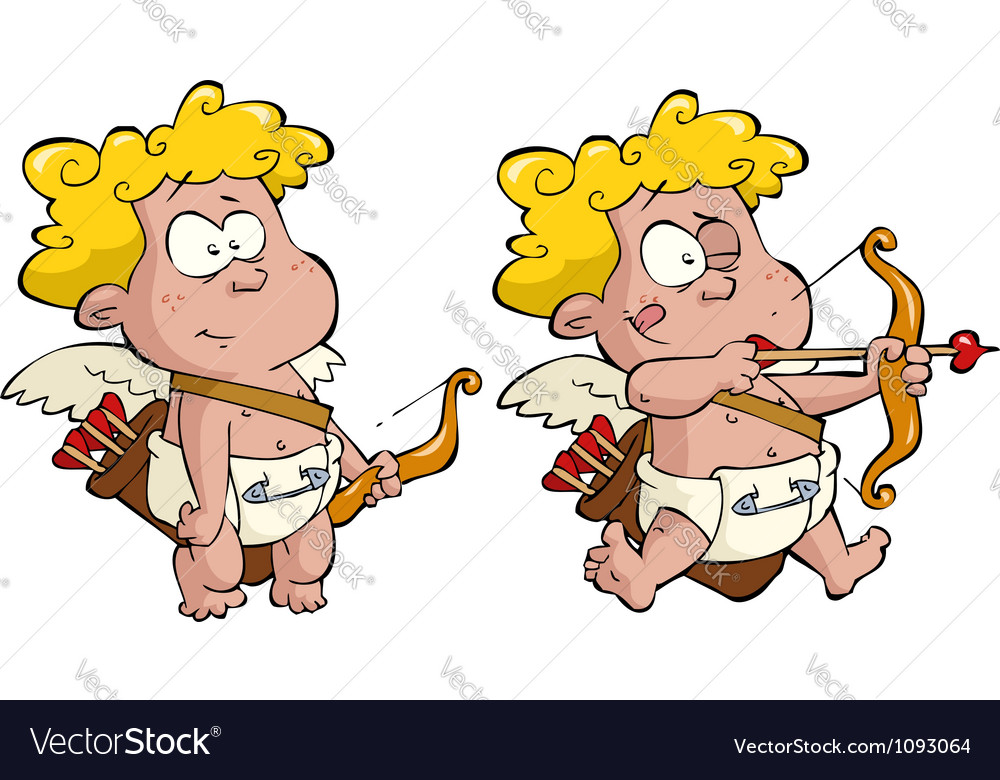Two cupid vector image